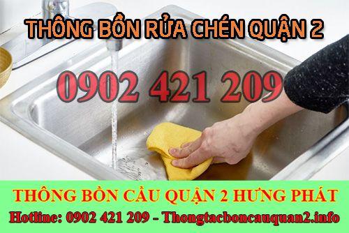 Thông Bồn Rửa Chén Quận 2 Bảo Hành 6 Tháng Giảm Giá 20%