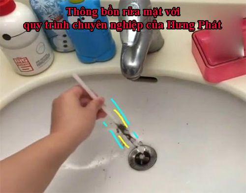 Thông bồn rửa mặt với quy trình chuyên nghiệp của Hưng Phát