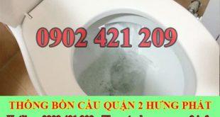 Cách xử lý bồn cầu toilet rút thoát nước chậm gọi 0909996752