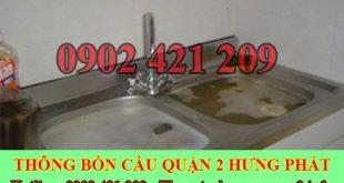 Thông tắc bồn rửa bát bị trào ngược Quận 2 BH 5năm 0909994175