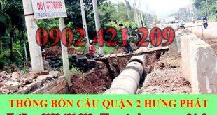 Đào Lắp Đặt Đường Cống Thoát Nước Quận 2 Hưng Phát.