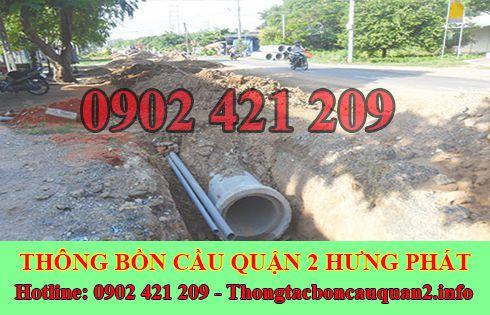 Dịch vụ đào và lắp đặt cống thoát nước Quận 2 Hưng Phát