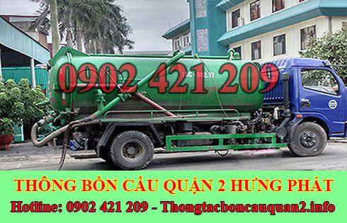 Dịch vụ hút hầm cầu quận 2 Hưng Phát LH 0902421209