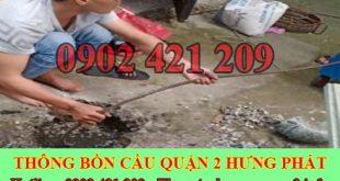 Số điện thoại thông cống nghẹt Quận 2 giá rẻ 0909996752
