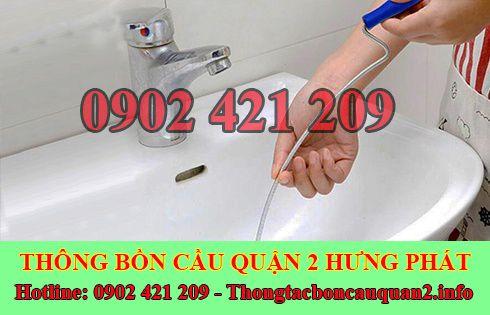 Thông đường ống nước bị tắc nghẹt Quận 2 giá rẻ 0902421209