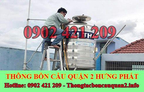 Bảng giá vệ sinh bồn nước Quận 2 giá rẻ LH 0902421209