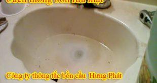 Cách thông bồn rửa mặt tại nhà bao sạch, nhanh chóng