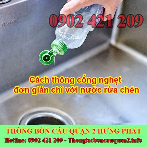 Cách thông cống nghẹt đơn giản chỉ với nước rửa chén